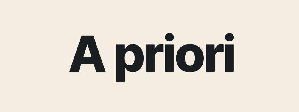 A priori en contabilidad