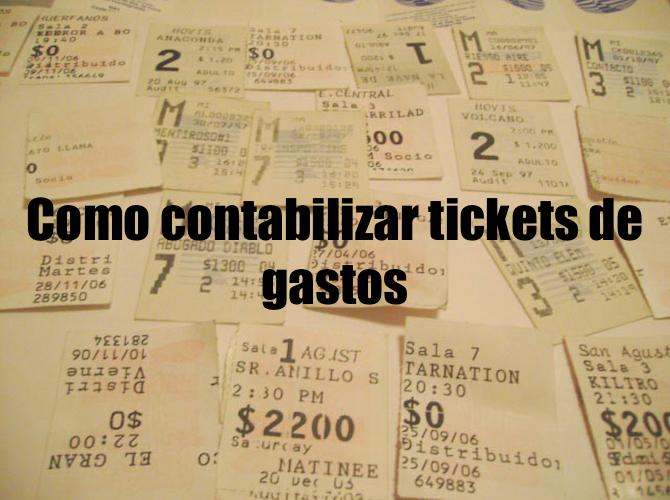 Como contabilizar tickets de gastos